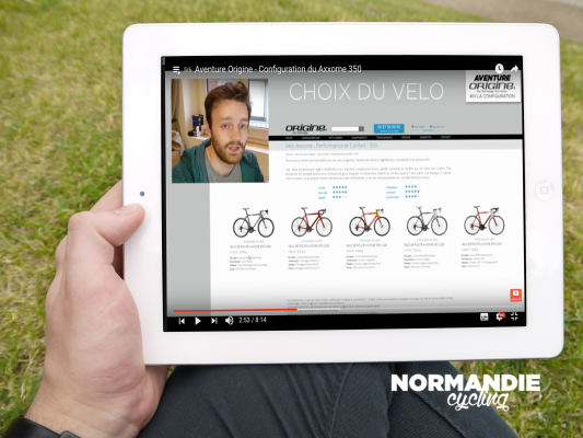 Normandie Cycling - Aventure Origine - Configuration du Axxome 350
