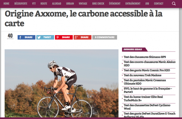 VeloChannel.com - Test Axxome 250