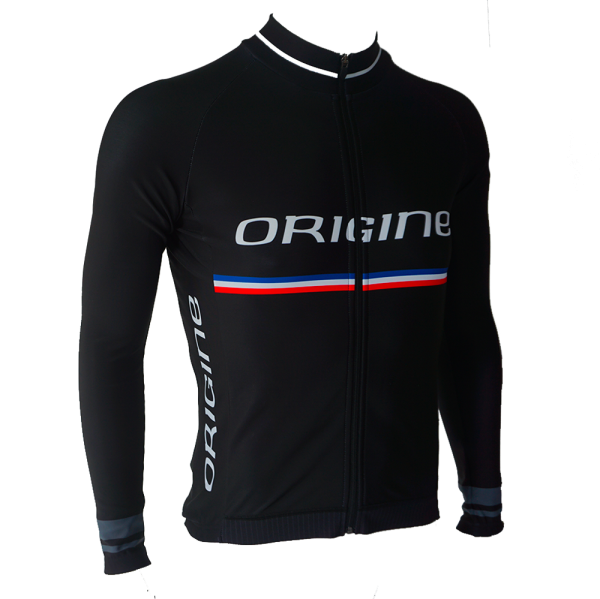 maillot v lo route pro team manches longues origine cycles. Black Bedroom Furniture Sets. Home Design Ideas